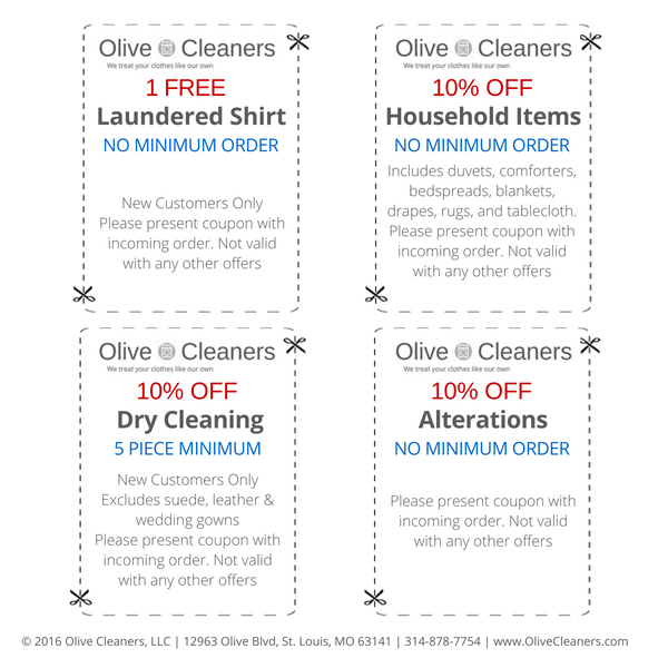 Olive Cleaners Coupons